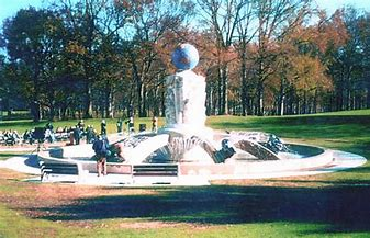 Image result for images of sculpted fountain in roosevelt park edison nj